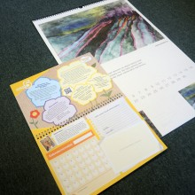 Organizers, notepads, desk-wall calendars