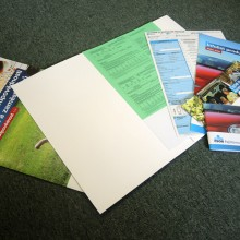 Printing of printed forms, instructions and manuals