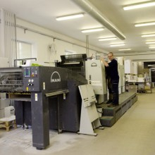 Sheet-fed offset printing, digital printing, large-format printing
